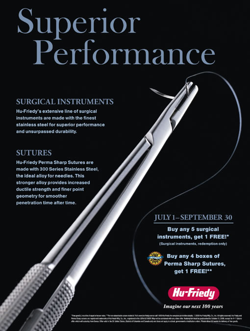 Surgical instruments and Sutures